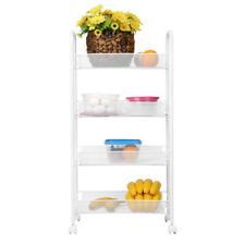 Kitchen Utility Cart Storage Basket Shelf Organizer with Wheel