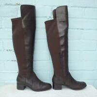 Marks & Spencer Leather Boots Size Uk 4 Eur 37 Womens Sexy Pull on Brown Boots