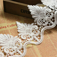 Embroidered Lace Trim Scalloped Edge Wedding Dress Ribbon Applique Sewing  Craft dec72994106d