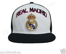 Real Madrid Fc Club Snapback Adjustable Cap Hat - White-black NEW Season soccer
