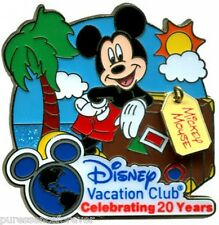 WDW Disney Vacation Club (DVC): Celebrating 20 Years - Mickey Mouse Pin