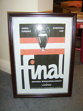 FRAMED CANVAS PRINT OF 1977 EUROPEAN CUP FINAL - LIVERPOOL V BORUSSIA MOENCHENGL