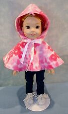 14 Inch Doll Clothes - Pink Camo Polar Fleece Cape made by Jane Ellen