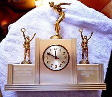 VINTAGE CLOCK TROPHY PALO ALTO CAL SWIMMING TEAM CHAMPIONS NORT THORNTON 1952