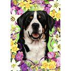 Easter Garden Flag - Greater Swiss Mountain Dog 331441