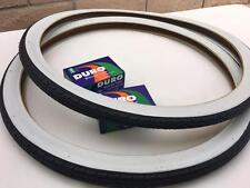 """24x1.75 White Wall Classic Thread Tires & Tubes 24"""" Schwinn Bike Balloon"""
