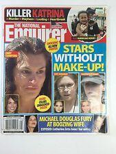 National Enquirer Sept. 19, 2005. Katrina, Michael Douglas, Stars Without Makeup