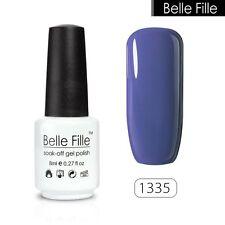 BELLE FILLE 8ml Nail Art Gel polish Soak-off UV Led Varnish Manicure DIY #1335