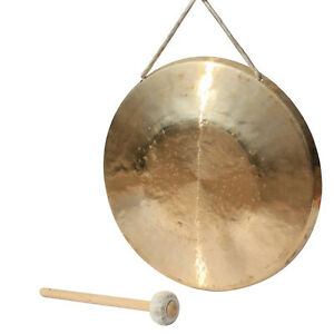 """13.5"""" Musical instrument low pitch gong parade copper with hammer Chinese"""