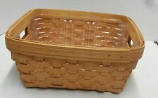 Longaberger 2002 Small Storage Solutions Basket With Protector - r