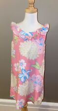JILLIAN'S CLOSET Floral Dress Lilly  Pink Blue  Green, Lined, Sleeveless  7