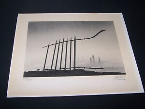 Trevor Grimshaw - Railings - Limited Edition Lithograph - Numbered & Signed