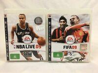 Sports Bundle - NBA Live 09 & FIFA 09 - With Manual - Playstation 3 / PS3