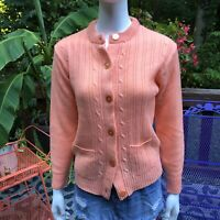 Vintage 60s Cardigan Sweater Pastel Grandma Hipster Sz Med Kuwaii 🎀