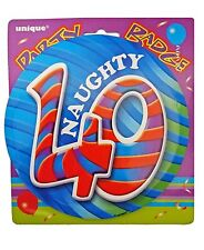 Naughty 40 - 40th Birthday Party Giant BADGE (15cm) (Gift/Craft/Card) #81175