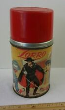 Zorro Disney lunchbox thermos only! Aladdin Disney with stopper and cap