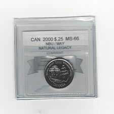**2000 May / Nat. Legacy**Coin Mart Graded Canadian,  25 Cent, **MS-66 NBU**