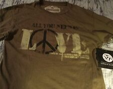Lennon & McCartney s/s 2 sided All You Need Is Love T-shirt Size Medium NWT