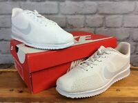 NIKE MENS CORTEZ ULTRA MIOIRE WHITE PURE PLATINUM TRAINERS VARIOUS SIZES RRP £75