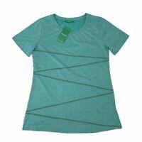 Kimmery Yoga T-Shirt Women's Size XL Blue Green Short Sleeve Quick Dry Stretch