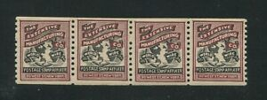 1911 US Extensive Manufacturing Co Test Stamp #TD40 Mint F/VF Coil Strip of 4