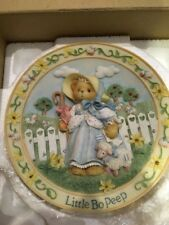 Cherished Teddies Little Bo Peep Nursery Rhymes Collectors Plate Mib!
