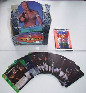 WCW NITRO WRESTLING GET IN THE RING! 11 CARD SLAP PACK + DISPLAY BOX  + 33 CARDS