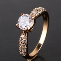 18k gold filled graceful new arrival white sapphire engagement Ring SzJ-SzR
