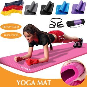 Yogamatte Fitnessmatte Sportmatte Bodenmatte Gymnastikmatte Pilates 10/15mm DE