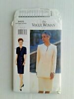 The Vogue Woman 9425 Misses Dress Top Skirt Sewing Pattern Size 14-18 OOP UNCUT