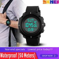 SKMEI Men's Military LED Digital Date Countdown Timer Sport Quartz Wrist Watch