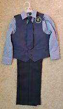 Boys 4 piece Suit Set Vest Tie Dress Pants Shirt Holiday Size 5 New