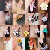 2019 Boho Women Geometric Flower Earrings Crystal Ear Drop Dangle Stud Jewelry