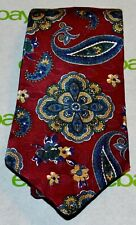 LIBERTY OF LONDON NEW NWT Burgundy Navy Blue Gold Green White Paisley Tie USA