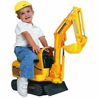 Mini Digger Micro Excavator Ride on Toy With Hard Hat