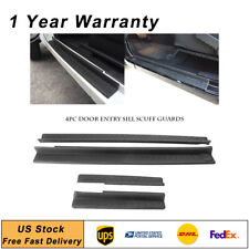 4PCS Door Sill Protector Scuff Plate Entry Guards Fit 2007-2017 Jeep Wrangler JK