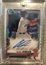 🔥2021 Blaze Jordan Topps Bowman Chrome Mega Box Mojo Auto Autograph On Card SSP