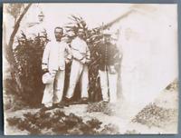 Tunisie, Sergents et fourriers du 4e à La Goulette  Vintage citrate print. Photo