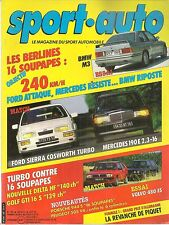 SPORT AUTO 295 1986 GP FRANCE ANGLETERRE ALLEMAGNE NEW ZEALAND BMW M3 SIERRA COS