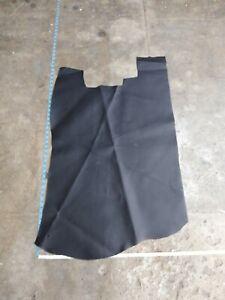 Italian Cowhide leather skin Cow hide Black matte firm 25'' x 34'' in 3 oz