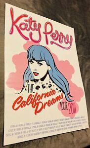 Katy Perry the California Dreams Tour Poster 2011