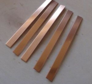 0.5mm - COPPER STRIPS - 50mm X 250mm - Pack Of 5