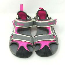 TEVA Girl's Sandal Sporty Strappy in a Color: Pink / Gray Size: 12 US kid's