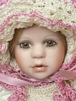 Janice Berard Bisque Baby Doll Victorian Antique Reproduction Pink Outfit Signed