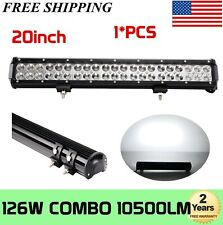 "20""inch 126W LED Work Light Bar Combo Offroad 4WD Truck ATV 22"" 108W 120W 144W"