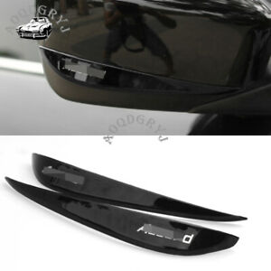 black stainless Rearview Side Mirror Cover Trim Strip For Honda Accord 2008-2015