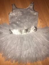 Girls 4 4t Biscotti Silver Snowflake Tulle Sequins Dress Eeuc