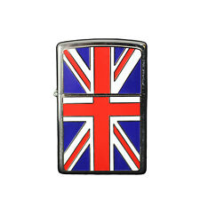 More details for zippo union jack flag emblem windproof cigarette lighter smokers accessory