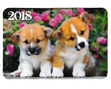 1 Pocket Wallet Calendar 2018 Dog �� dogs Puppy puppies Ukraine #34