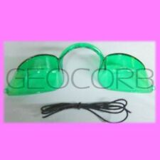 GREEN EYE CANDY TANNING BED EYEWEAR GOGGLES FOR UV PROTECTION EYE WEAR INDOOR